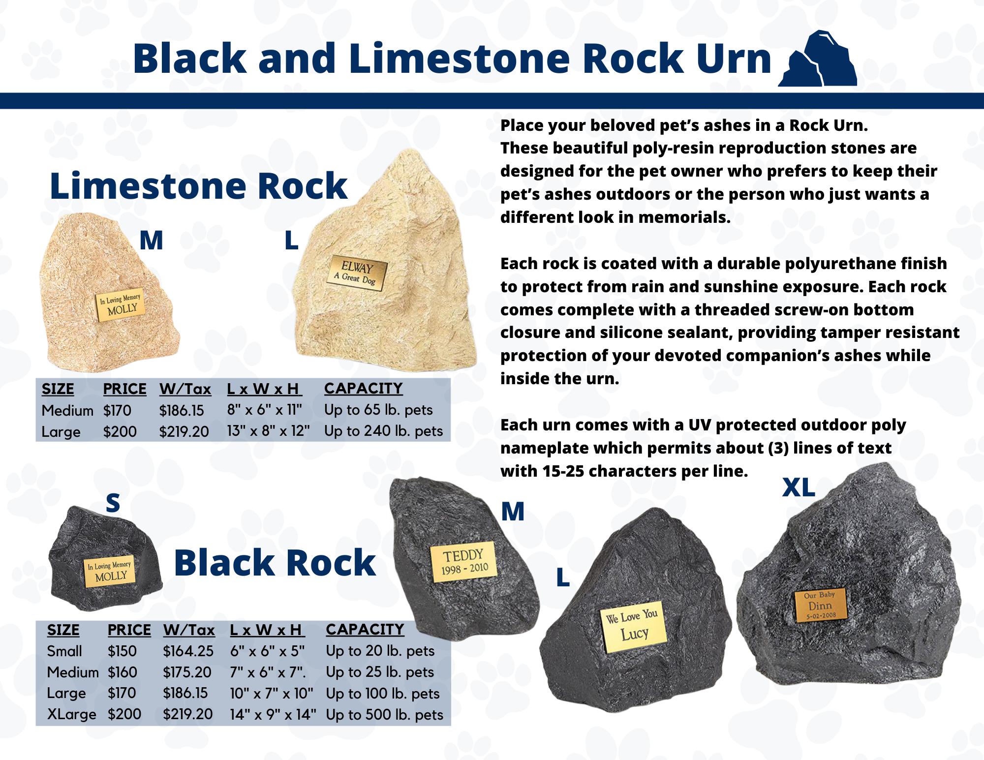Limestone Rock Urn