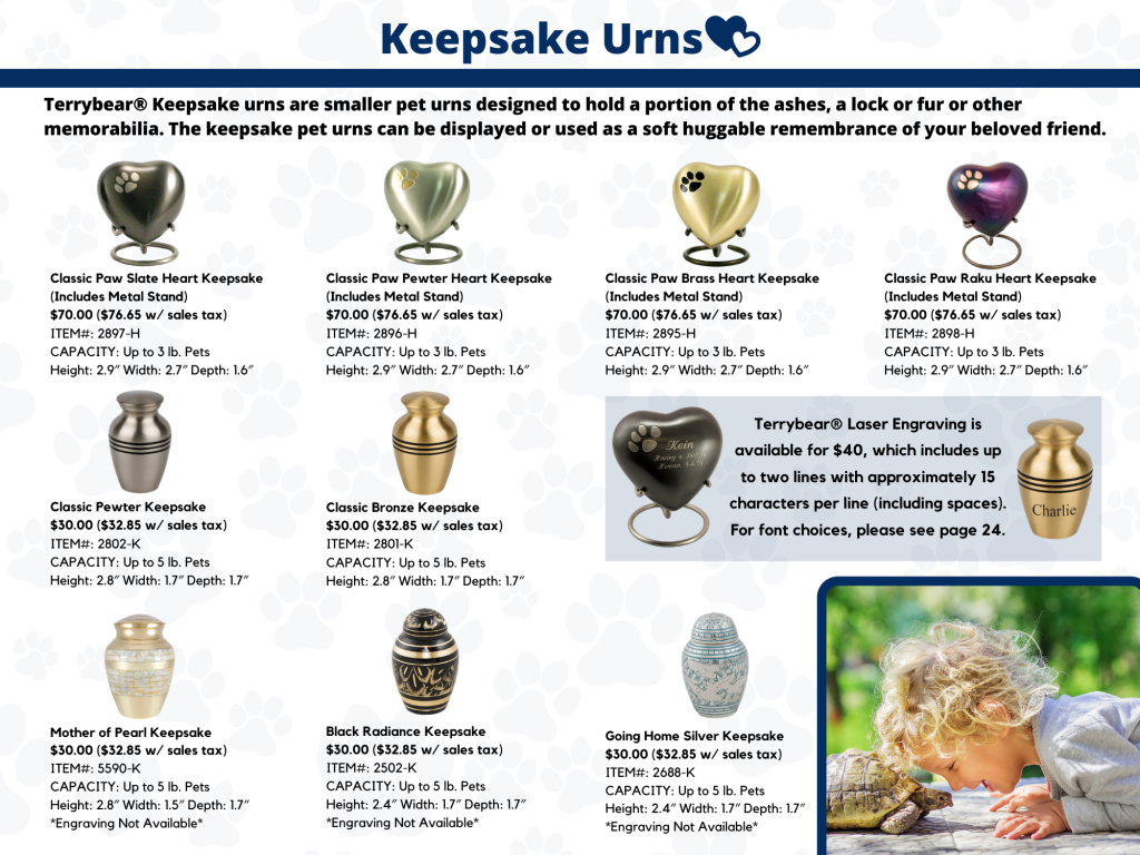 Keepsake Pet Urns